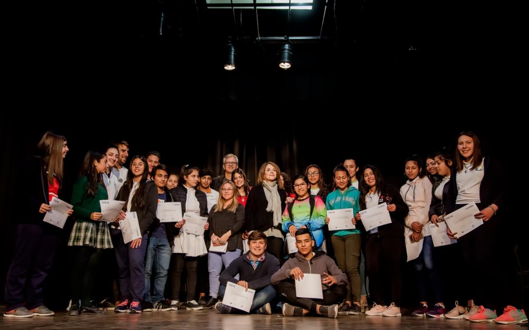 Leonor Benedettoentregó certificados a jóvenes realizadores audiovisuales de Entre Ríos